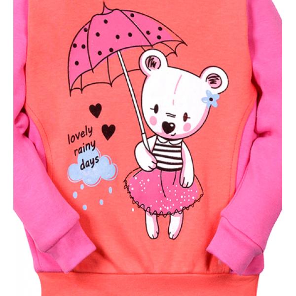 "05-371205 ""Rain days"" Джемпер для девочки, 3-7 лет"