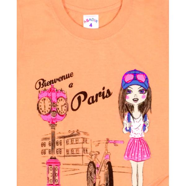 09-142104 Комплект футболка-шорты, 1-4 года, св-персиковый