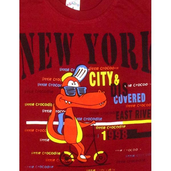 09-142105 Комплект футболка-шорты, 1-4 года, т.бордовый