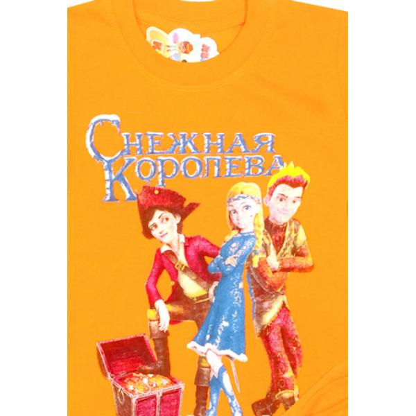 09-582126 Комплект футболка-шорты, 5-8 лет, оранжевый