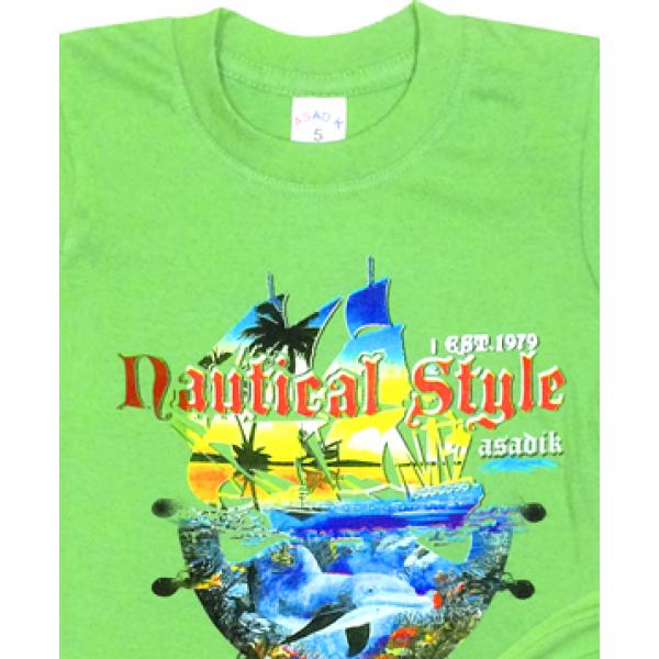 09-582129 Комплект футболка-шорты, 5-8 лет, св-зеленый
