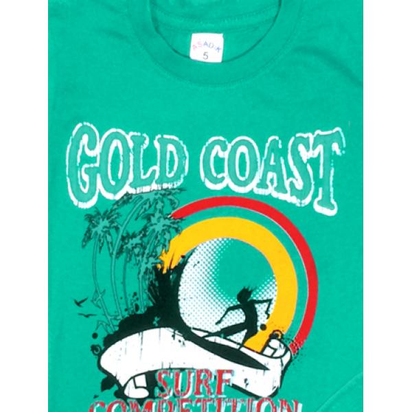 09-582131 Комплект футболка-шорты, 5-8 лет, зеленый