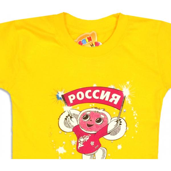 09-582132 Комплект футболка-шорты, 5-8 лет, желтый