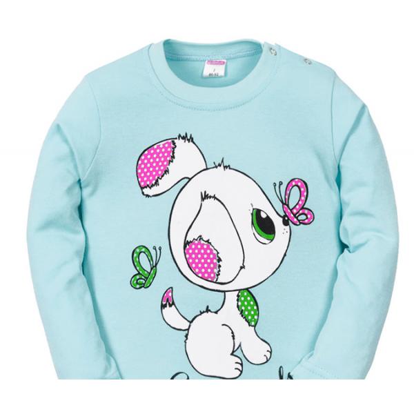 11-251244 Лонгслив для девочки, 2-5 лет, св-голубой