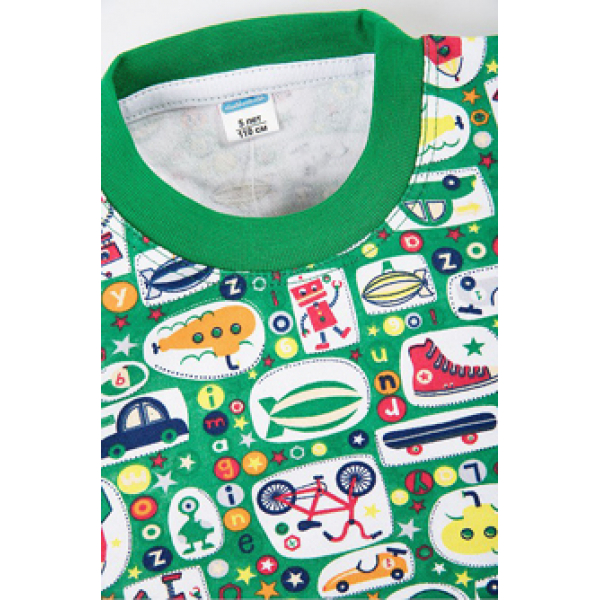 "11-258143 ""Boys Area""  Пижама, интерлок, 2-5 лет, зеленый"