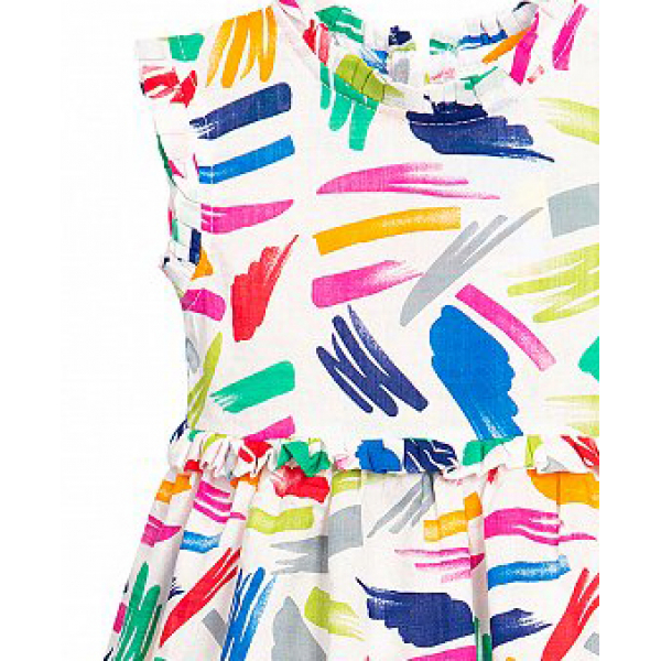 11-370186 Платье для девочки, муслин, 3-7 лет