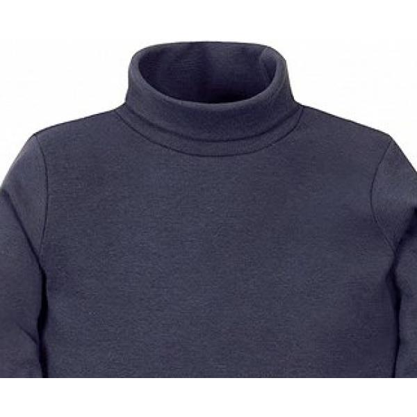 11-37146 Водолазка однотонная, 3-7 лет, джинсовый