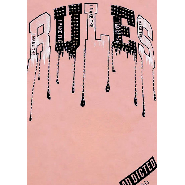 """12-8110806-4 """"Rules"""" Туника для девочки, 8-11 лет, пперсиковый"""