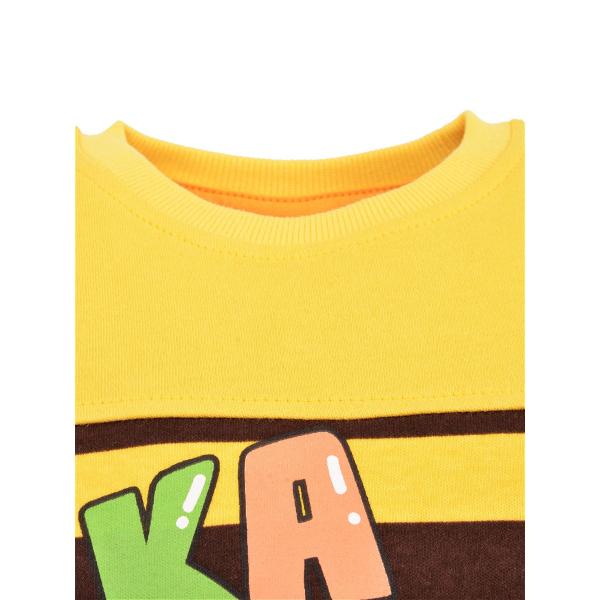 14-371108 Джемпер для мальчика, 3-7 лет, желтый