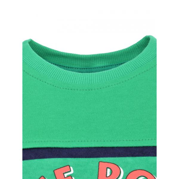 14-371110 Джемпер для мальчика, 3-7 лет, зеленый