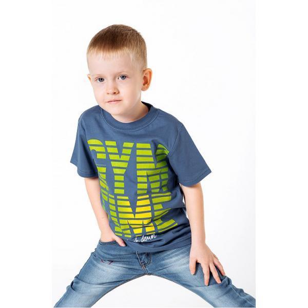 "20-002104 ""GYM TIME"" Футболка для мальчика, 4-8 лет, синий"