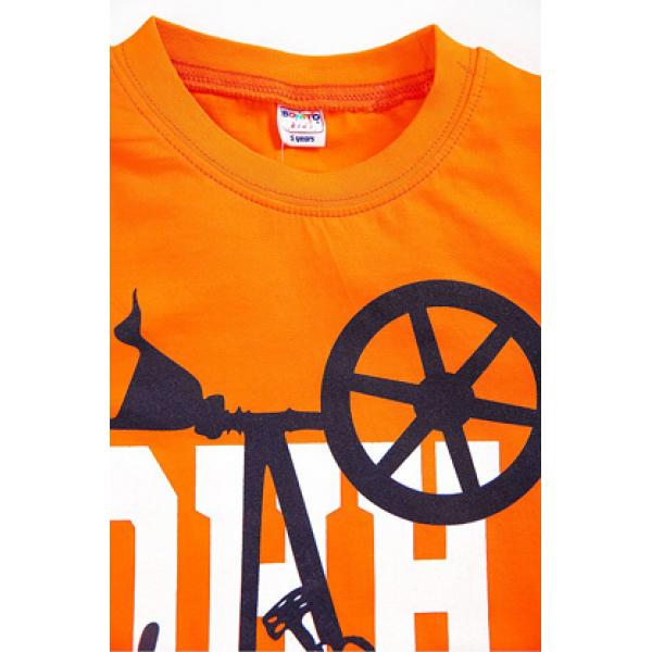 """20-002105 """"BIKE"""" Футболка для мальчика, 4-8 лет, оранжевый"""