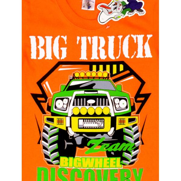"""20-102115 """"Big Truck"""" Футболка для мальчика, 4-8 лет, оранжевый"""