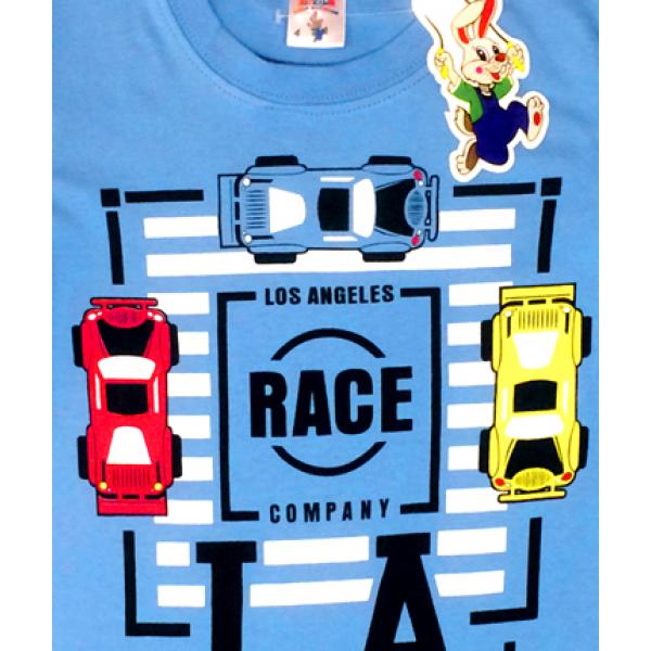 """20-102123 """"Race"""" Футболка для мальчика, 4-8 лет, голубой"""