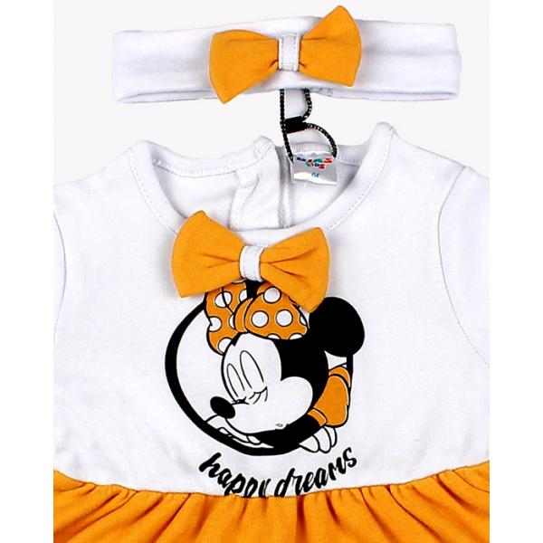 """20-10731 """"Минни"""" Платье с повязкой для малышки, 68-86, малиновый"""