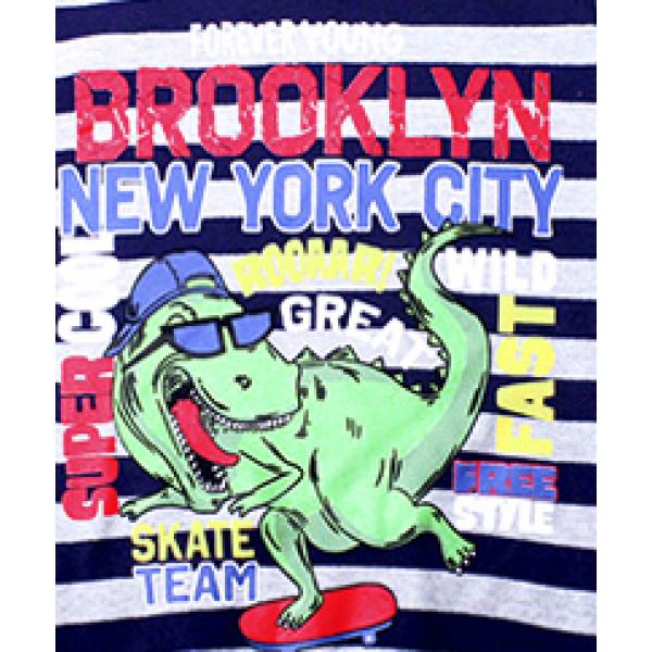 "20-112809 ""Brooklyn"" Джемпер для мальчика, 5-8 лет, полоса\т.синий"