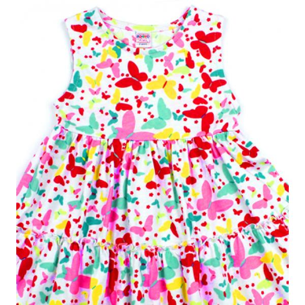 """20-115904 """"Бабочки"""" Платье для девочки, 2-5 лет"""