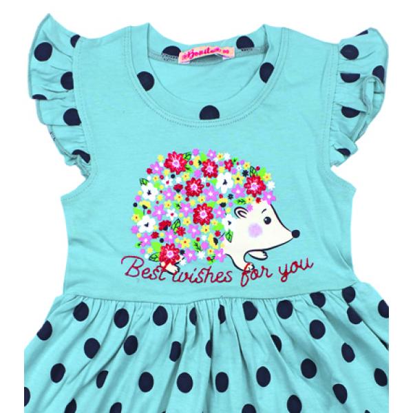 20-116804 Платье для девочки, 3-7 лет, бирюзовый