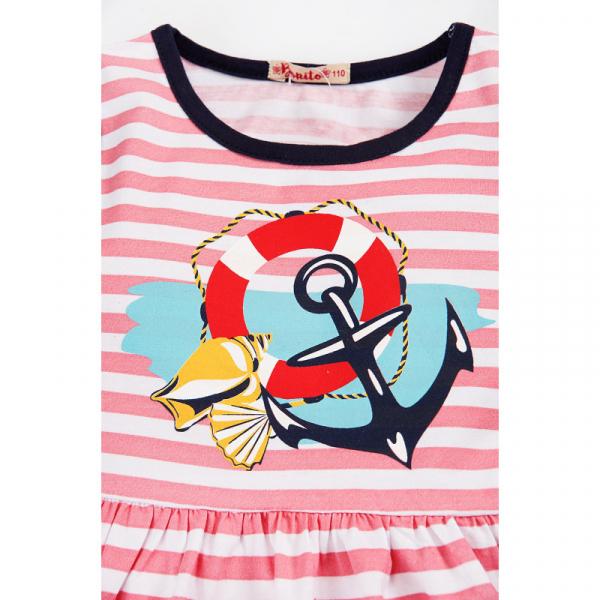"""20-116902 """"Морское"""" Платье для девочки, 2-5 лет, розовый"""