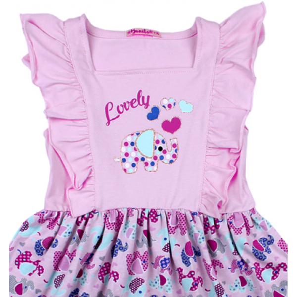 20-117802 Платье для девочки, 3-7 лет, св-сиреневый