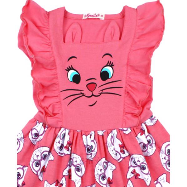 20-117804 Платье для девочки, 3-7 лет, розовый