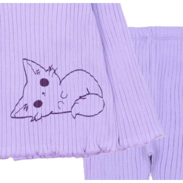 20-1303-5 Пижама для девочки, кашкорсе,  74-98, лиловый
