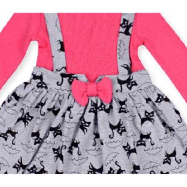 20-13772 Платье для девочки, 2-6 лет, малиновый