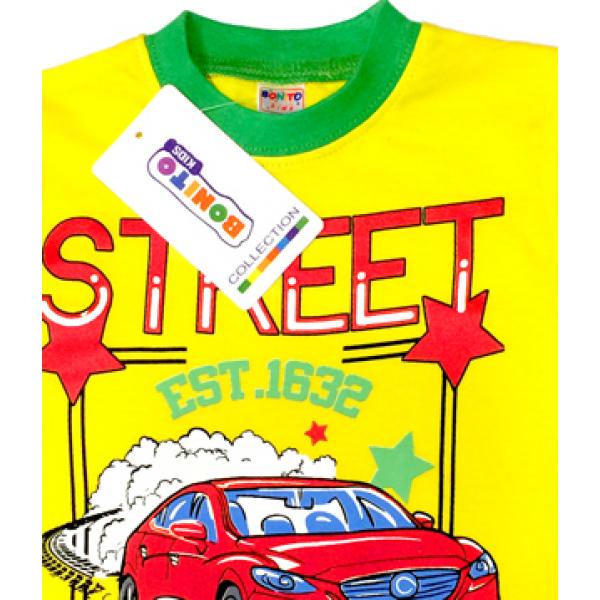 """20-200418 """"STREET"""", костюм для мальчика, 1-4 года, желтый"""