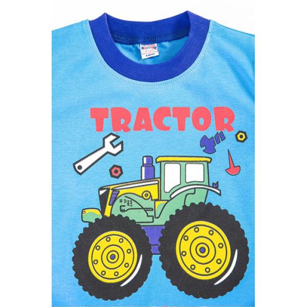 """20-20103 """"Tractor"""", костюм для мальчика, 1-4 года, голубой"""
