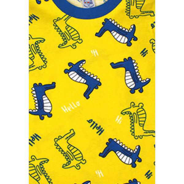 20-300011 Пижама для мальчика, кулир, 2-6 лет, желтый