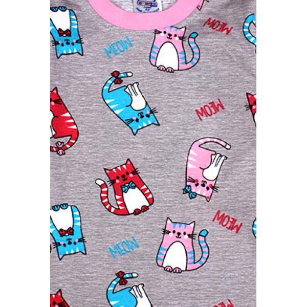 20-300022 Пижама для девочки, кулир, 2-6 лет, меланжевый