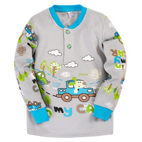 "20-30032 ""Car"" Пижама для мальчика, 2-5 лет, серый"