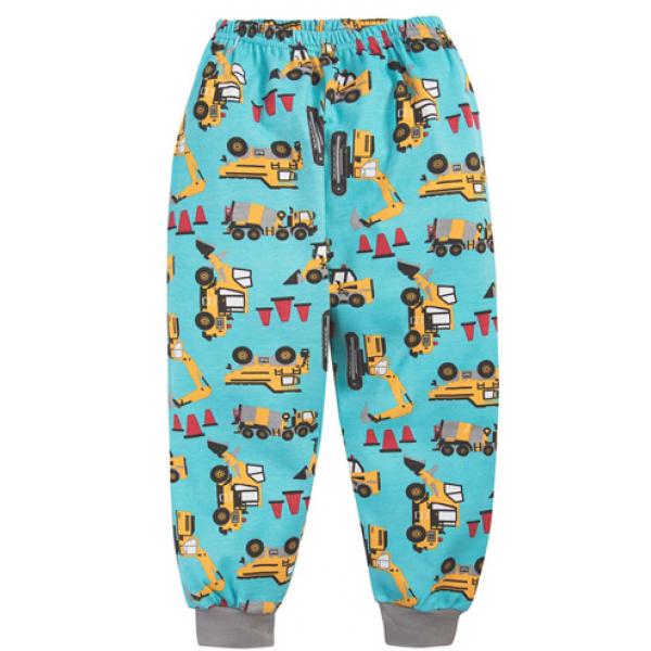 """20-30036 """"Build"""" Пижама для мальчика, 2-5 лет, бирюза"""