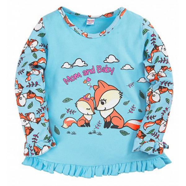 20-30055 Пижама для девочки, 2-5 лет, голубой