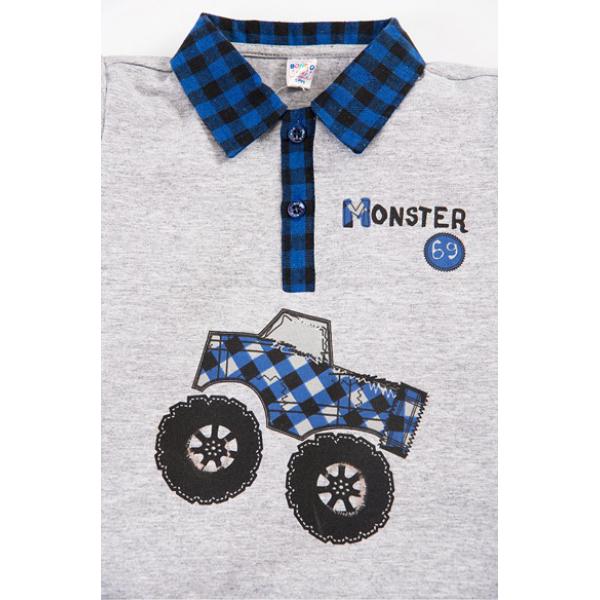 """20-34002 """"CAR"""" Костюм для мальчика, 2-5 лет, меланж\синий"""