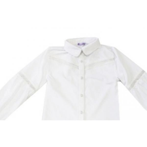 20-413 Блузка школьная с вышивкой 10-13 лет