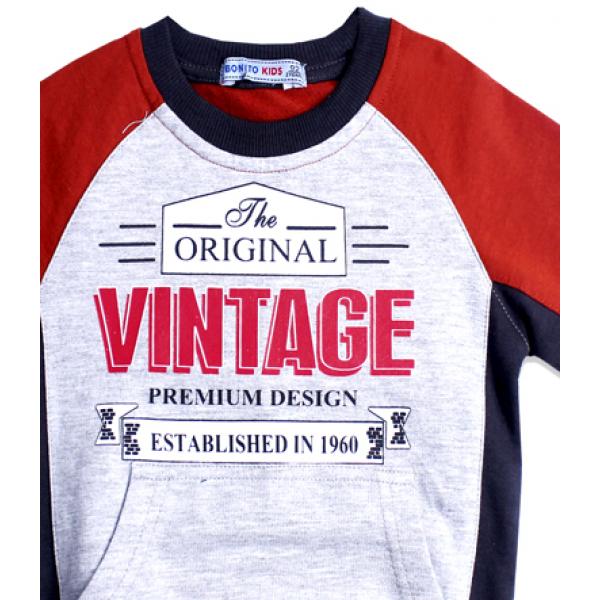 """20-49002 """"Vintage"""" Толстовка для мальчика, 7-11 лет"""