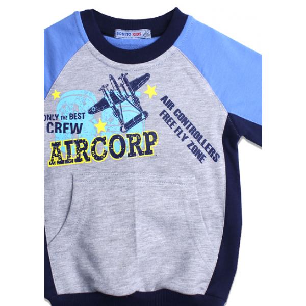 "20-49005 ""Aircorp"" Толстовка для мальчика, 7-11 лет"