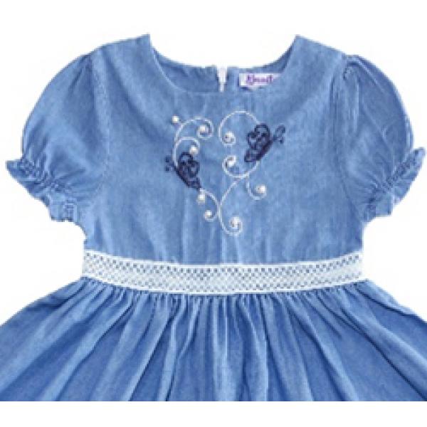 20-780 Платье джинсовое для девочки, 2-5 лет