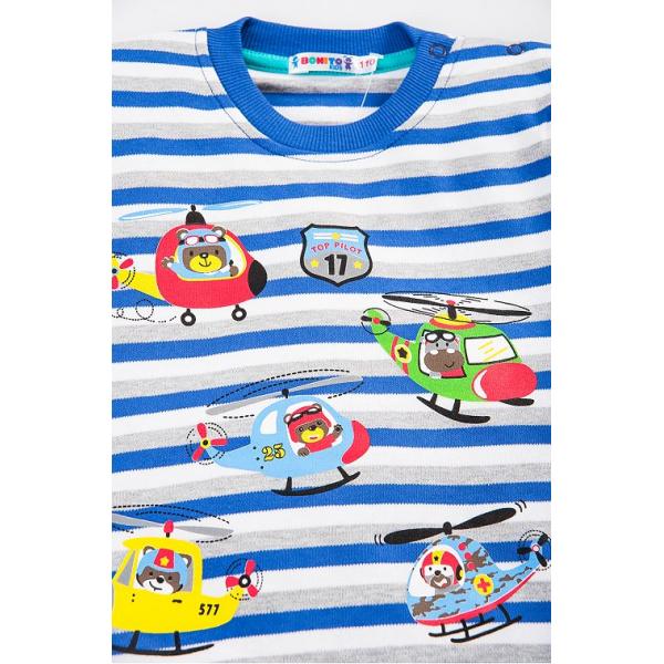 """20-78211 """"TOP PILOT"""" Джемпер для мальчика, 2-5 лет, синий"""