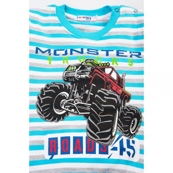 "20-78213 ""Monster Trucks"" Джемпер для мальчика, 2-5 лет, мятный"