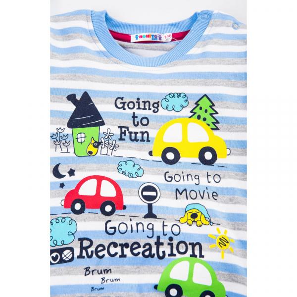 """20-78219 """"Road Maze"""" Джемпер для мальчика, 2-5 лет, голубой"""