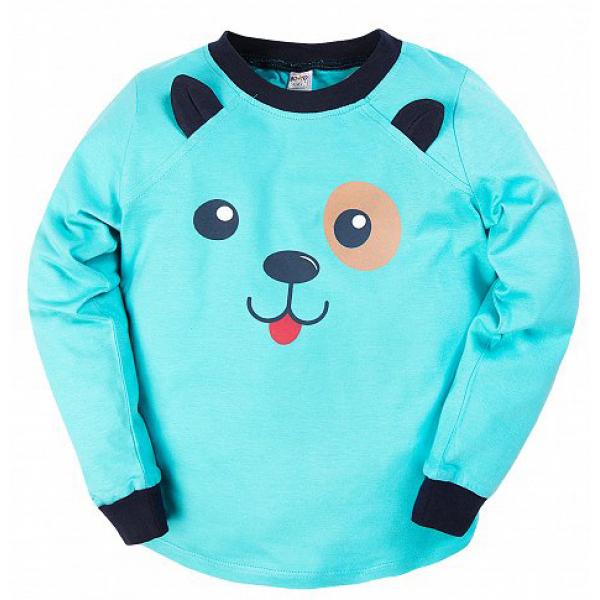 """20-97703 """"Панда"""" Пижама с начесом, 3-7 лет, голубой"""