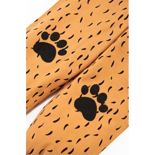 """20-97705 """"Тигр"""" Пижама с начесом, 3-7 лет, коричневый"""