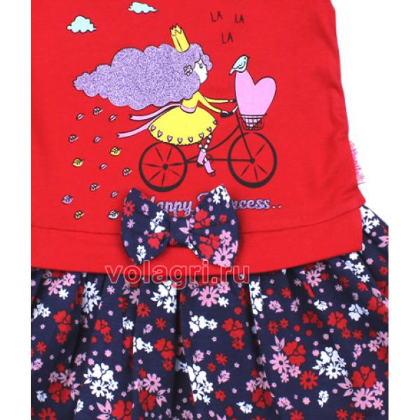 20-99701 Платье для девочки, 2-6 лет, красный