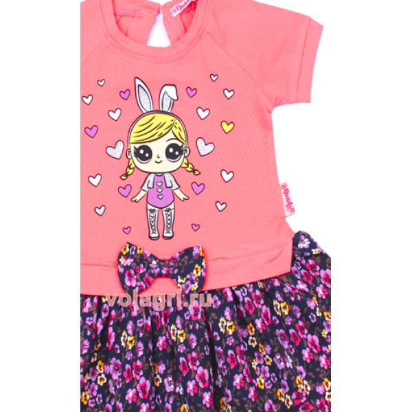20-99702 Платье для девочки, 2-6 лет, розовый