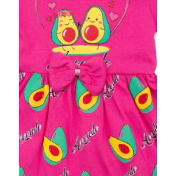 """22-690601-2 """"Авакадо"""" Платье для девочки, 6-9 лет, фуксия"""
