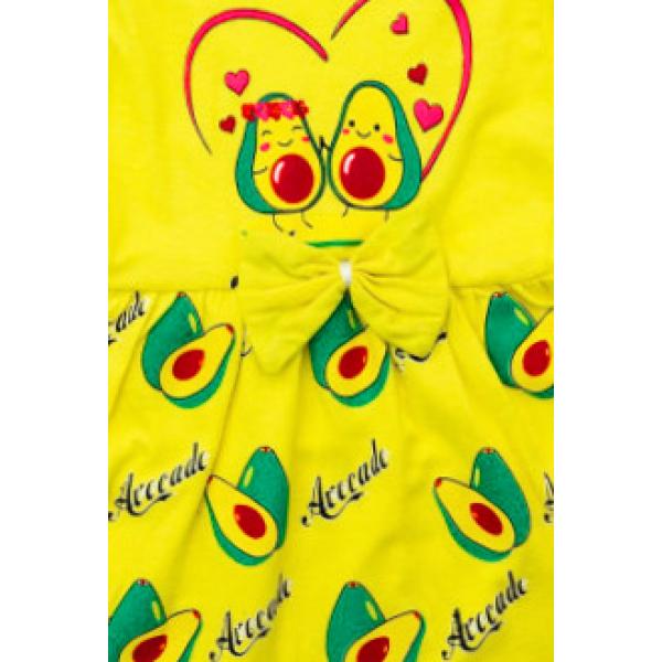 """22-690601-4 """"Авакадо"""" Платье для девочки, 6-9 лет, желтый"""