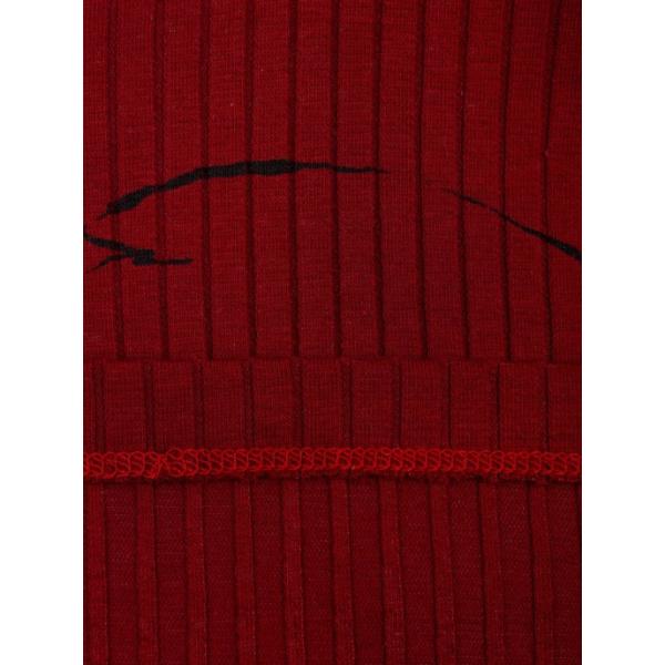 20-1297-5 Водолазка кашкорсе (лапша), 86-92, бордовый