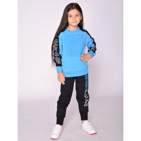20-1218-2 Костюм спортивный для девочки, 8-12 лет, голубой